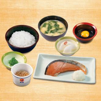焼鮭定食(納豆)