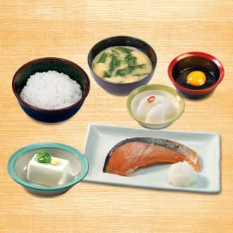 焼鮭定食(冷奴)