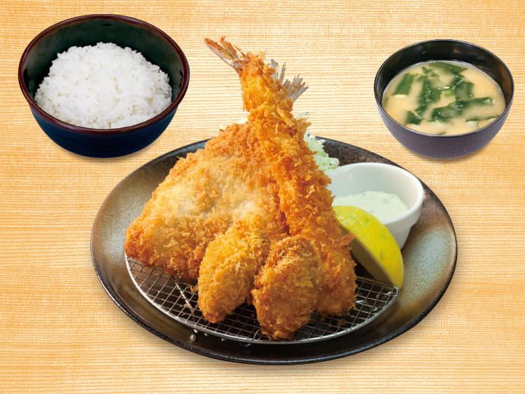 カキ海鮮盛合せ定食