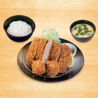 大判ヒレかつ&ホタテフライ定食