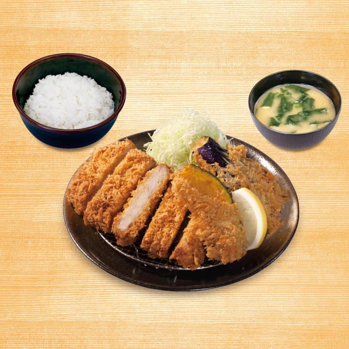 大判ヒレかつ&野菜フライ2点盛合わせ定食