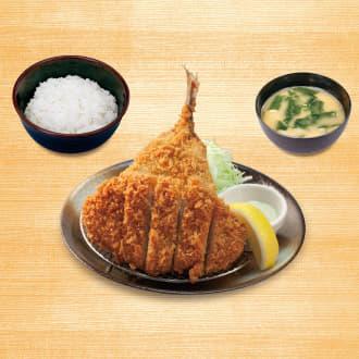 ロースかつ&アジフライ定食