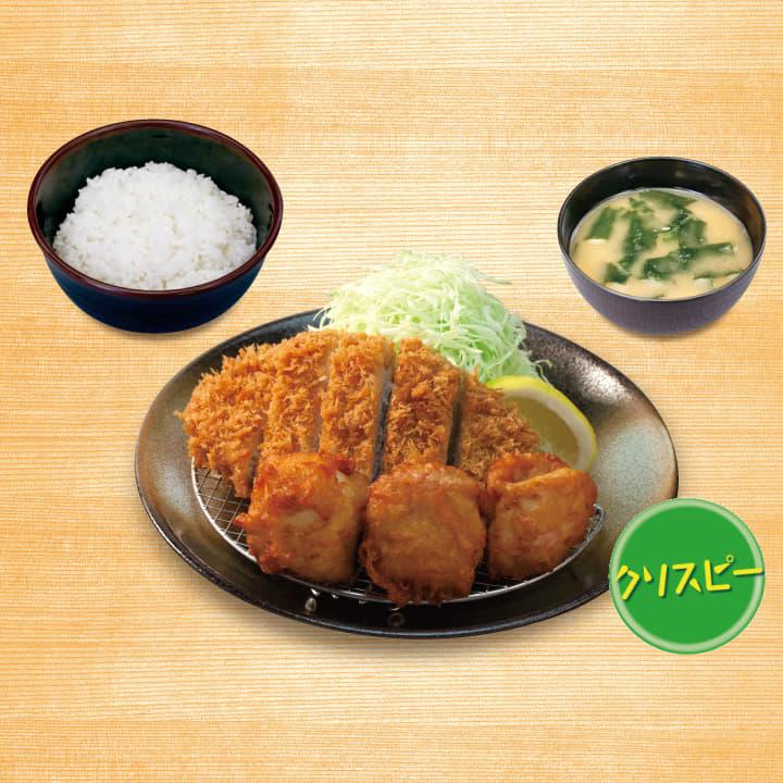 ロースかつ&クリスピー唐揚げ定食