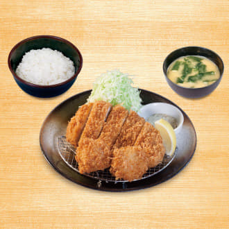 ロースかつ&ホタテフライ定食