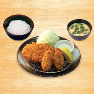 ロースかつ&カキフライ定食