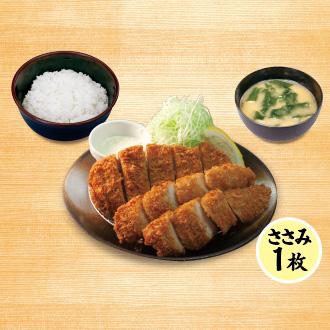 ロースかつ&ささみかつ(1枚)定食