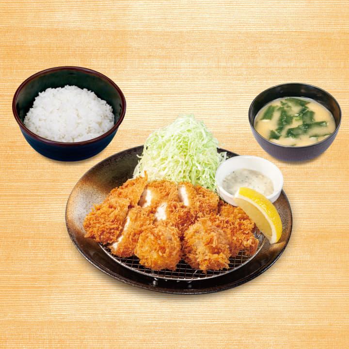 ささみかつ&ホタテフライ定食