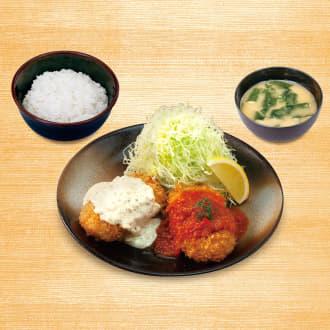 カニ風味コロッケ定食