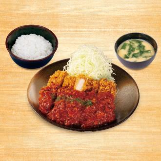 ケイジャン大判ヒレかつ定食