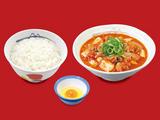 豆腐キムチチゲ膳 生玉子