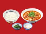 豆腐キムチチゲ膳 半熟玉子