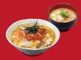キムチ牛とじ丼豚汁セット