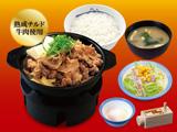 肉増し牛鍋膳(熟成チルド牛肉使用)半熟玉子野菜セット