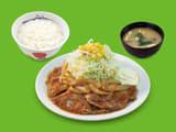 豚肩ロースの生姜焼ラージ定食
