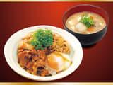豚たま牛めし(熟成チルド牛肉使用)豚汁セット