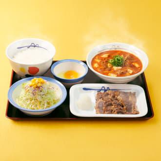 チゲ牛カルビ焼肉膳 生野菜セット