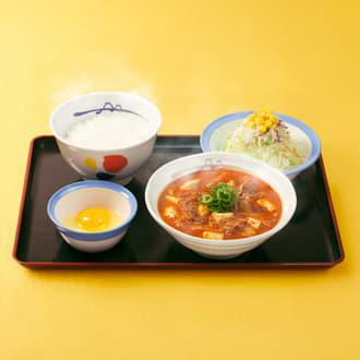 豆腐キムチチゲ膳 生野菜セット