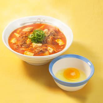 豆腐キムチチゲ玉子セット