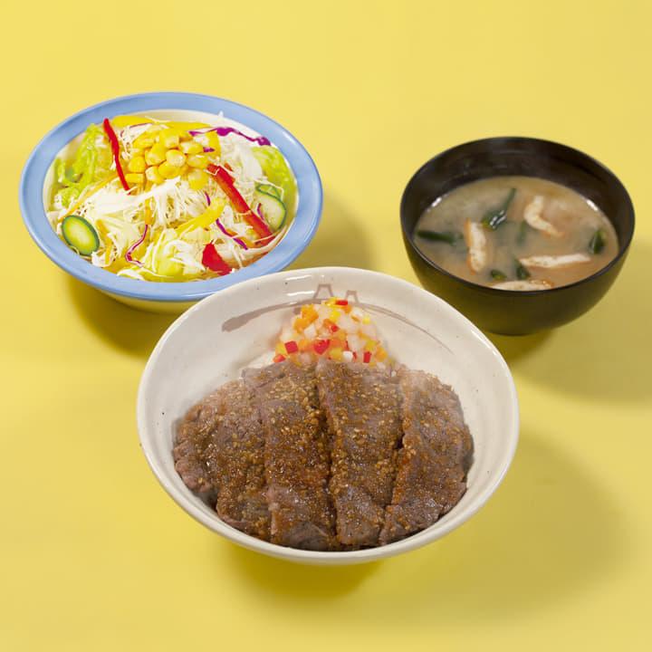 ビフテキ丼彩り生野菜セット(にんにくごま醤油)