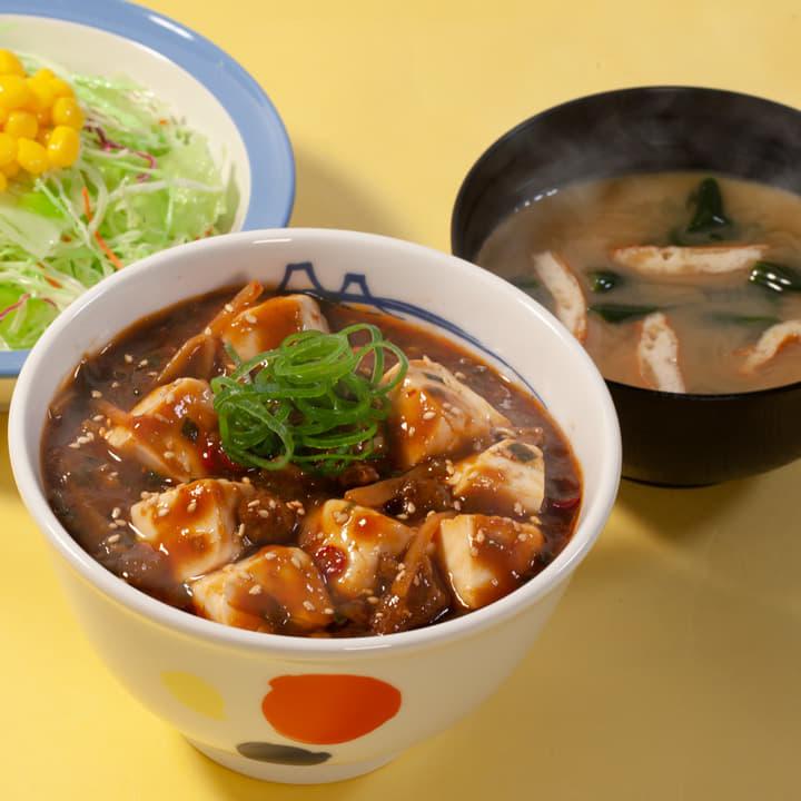 麻婆豆腐丼生野菜セット