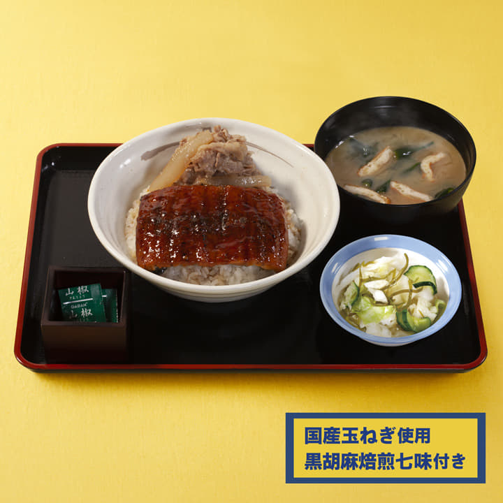 うなぎコンボ牛めし(国産玉ねぎ使用)