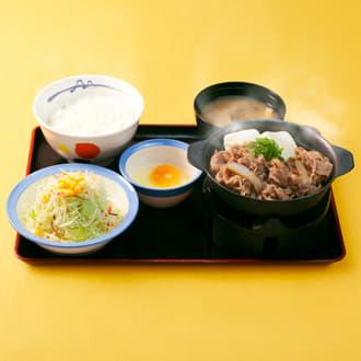 肉増し牛鍋膳生玉子野菜セット
