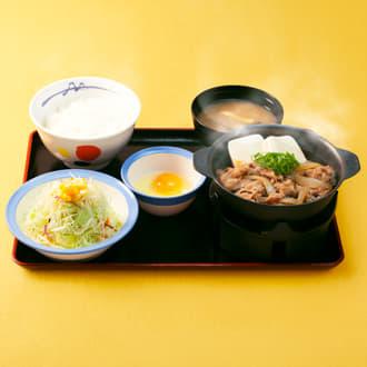 牛鍋膳生玉子野菜セット
