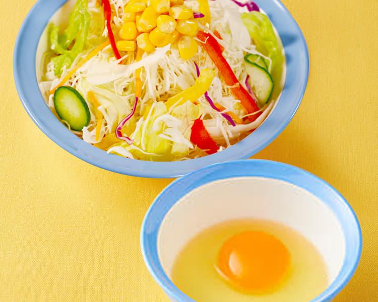 彩り生野菜生玉子セット