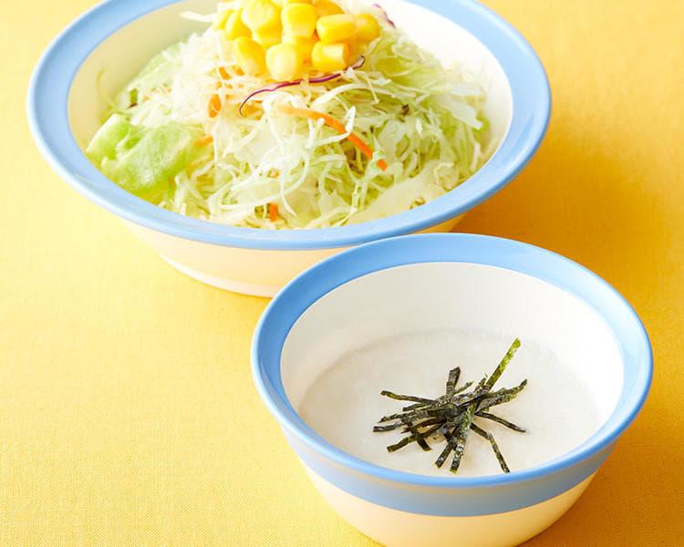 とろろ生野菜セット