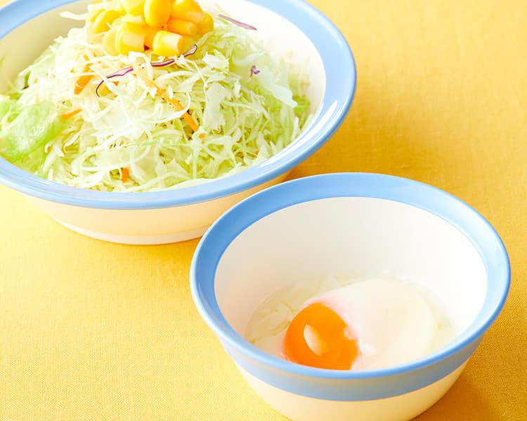 生野菜半熟玉子セット