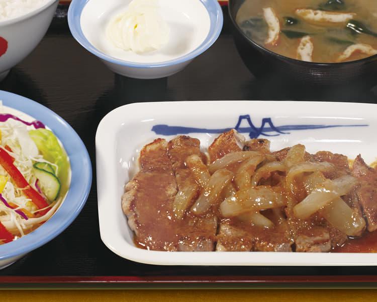 厚切り豚生姜焼定食
