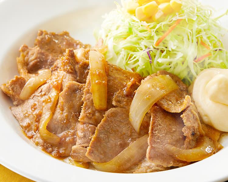 豚肩ロースの生姜焼定食