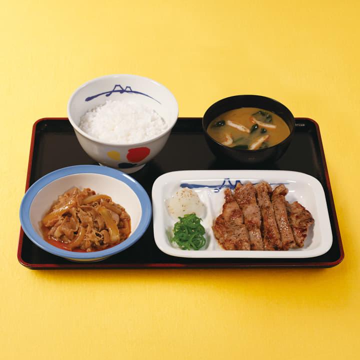 牛皿+厚切り豚焼肉セット