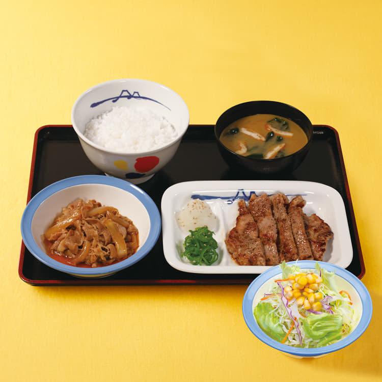牛皿+厚切り豚焼肉生野菜セット