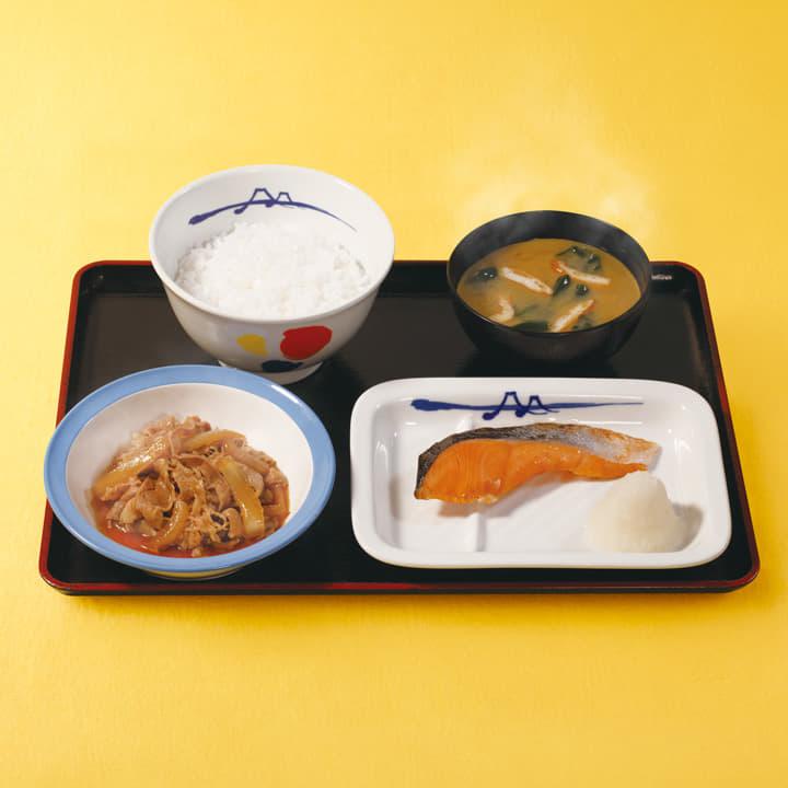 牛皿+焼鮭セット