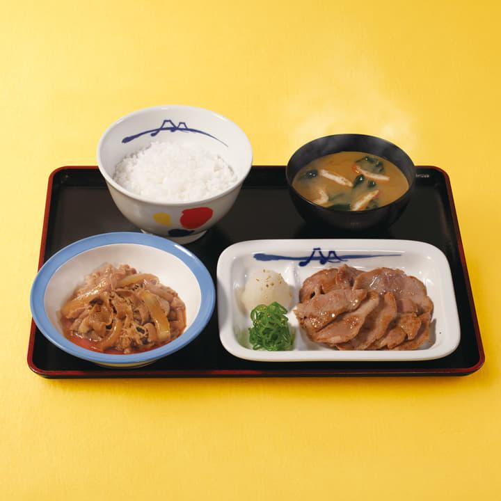 牛皿+豚焼肉セット