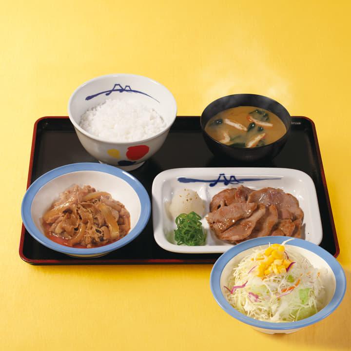 牛皿+豚焼肉生野菜セット